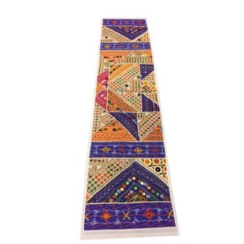 Mogul Moroccan Table Runner Mirror Work Patchwork Embroidered Table Throw Tapestry - Walmart.com