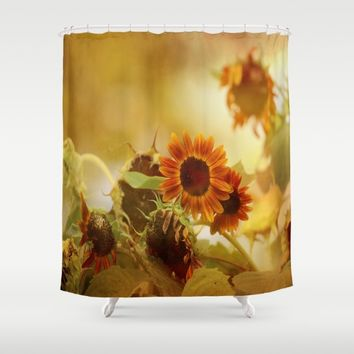 Autumn Blessings Shower Curtain by Theresa Campbell D'August Art