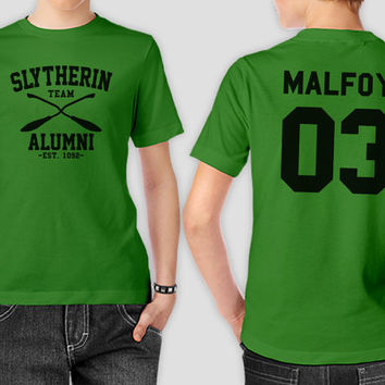 Draco Lucius Malfoy 03 Team Slytherin Alumni Harry Potter Slytherin House Logo T-Shirt - Gift for friend - Present