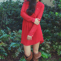 Gotta Get Up And Try Tunic: Bright Red