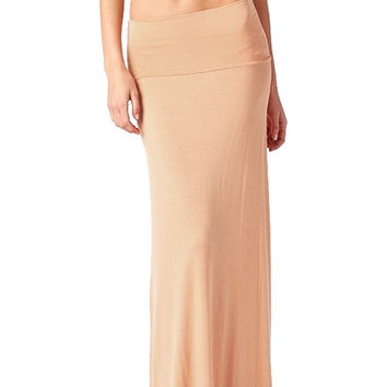 82 Days Women'S Rayon Span Maxi Skirt - Solid
