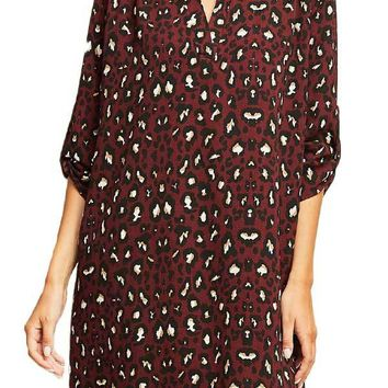 Entro Leopard Tunic Dress