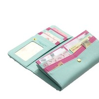 Women Cute Style Shinzi Katoh Pu Leather Handbag Clutch Wallet Mint 14436