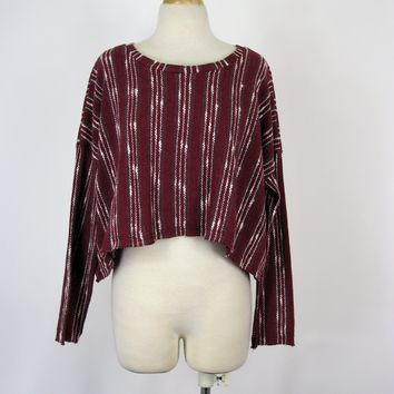 Volume Boho Hippie Chic Woven Mexican Style HiLo Crop Top S NWT