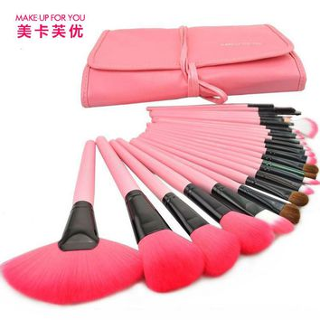 Brand Professional 24pcs Classical Makeup Brushes Set Make up Brushes Set with Leather Case MAKE-UP FOR YOU
