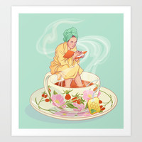 Cure for the common cold Art Print by ElinJ
