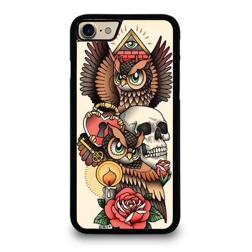 OWL STEAMPUNK ILLUMINATI TATTOO iPhone 7 Case Cover