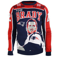 New England Patriots Brady T. #12 Official NFL 2015 Player Ugly Sweater