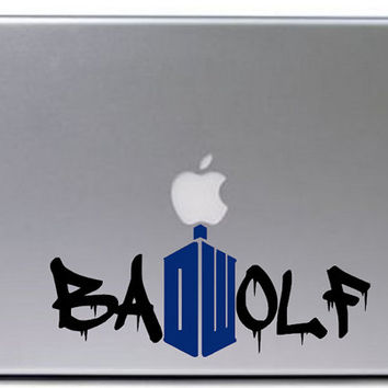 Doctor Who Bad Wolf Decal / Macbook Decal / Laptop Decal