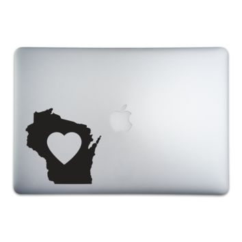 Wisconsin Love Sticker for MacBooks and Apple Devices