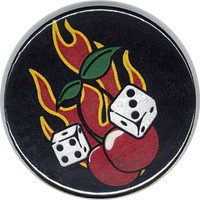 Flaming Cherry Compact Mirror