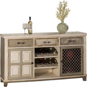 5808 LaRose (2) Door Console Table with Removable Wine Rack - Free Shipping!