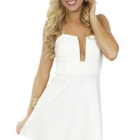 Wired Fit N Flare Dress White
