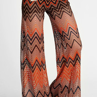 Throwback Chevron Bell-Bottoms - $52.00: ThreadSence, Women's Indie & Bohemian Clothing, Dresses, & Accessories