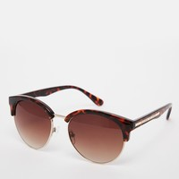 River Island Tort Retro Sunglasses at asos.com
