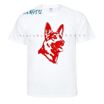 German Shepherd Face T-Shirt - Men's Tops
