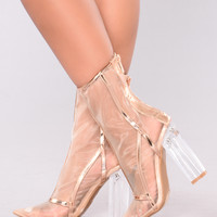 Feeling Good Head To Shoe Boot - Rose Gold