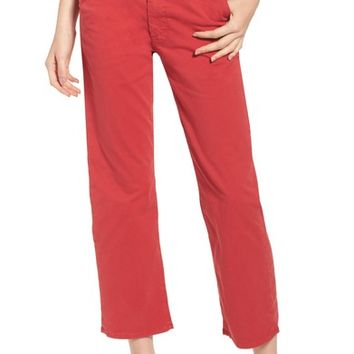 MOTHER The Tomcat Prep Crop Twill Pants | Nordstrom