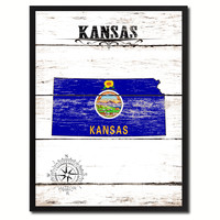 Kansas State Flag Gifts Home Decor Wall Art Canvas Print Picture Frames