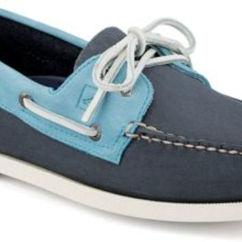 Sperry Top-Sider Authentic Original Two-Tone 2-Eye Boat Shoe Navy/Blue, Size 13M  Men's Shoes