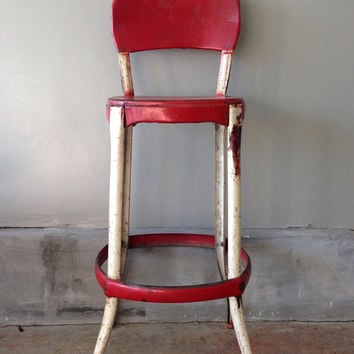 Rustic Antique Red Chair - Costco Chair