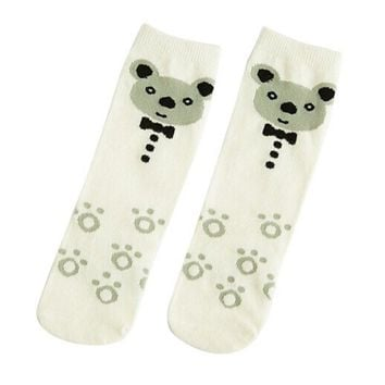 Winter Soft Cotton Cute Kids Socks Baby Boys Girls Knee Long Socks Children Leg Warmers
