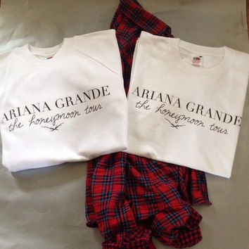 Ariana Grande: The Honeymoon Tour sweatshirt- WHITE