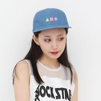 Heart Show Little Box Geometric Patterns Jeans Hip-hop Cap Baseball Cap Flat -brimmed Hat Hat Hip-hop Cap Influx of Men And Women, $39.8 | DHgate.com