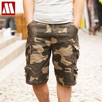 new fashion summer style mens camouflage shorts cotton casual shorts men pockets beach shorts men's Cargo shorts