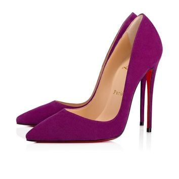 Christian Louboutin Cl So Kate Orchidee Suede 13w Pumps 3130692l129 -
