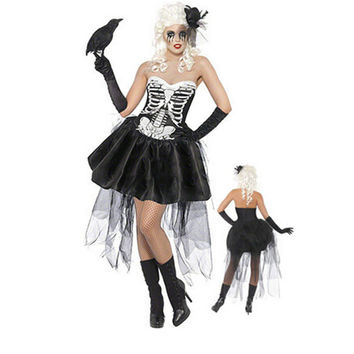 Vampire Costume Halloween Costumes for Women Ghost bride Costumes for Party Dress XY1307