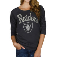 Junk Food Oakland Raiders Ladies Field Goal Fleece Sweatshirt - Black