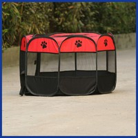 Pet Tent Folding Fence Playpen Kennel Puppy Dog Cage Exercise Soft Crate.