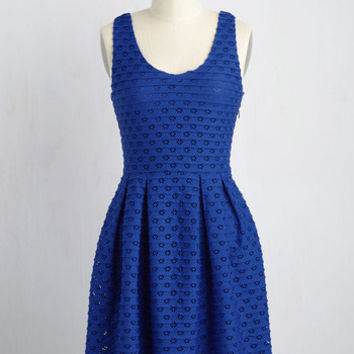 Learn the Yard Way Dress in Cobalt