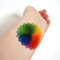 Colorwheel temporary tattoo - Visual Arts, Teacher, Ink, Colourful, Tattoo, Woodland, Accessories