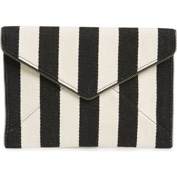 Rebecca Minkoff Leo Canvas Envelope Clutch | Nordstrom