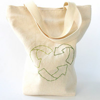 Reusable Lunch Bag  - Lunch Tote- Recycle- Eco Friendly
