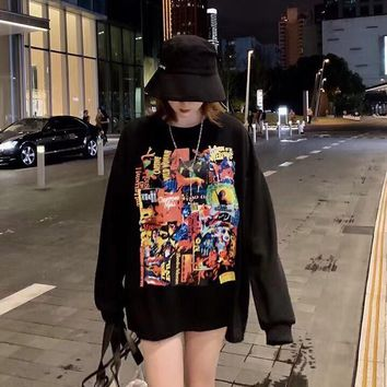 Kuyou Gf2x998 We11done 19ss Oversize Movie Printed Cotton-jersey T-shirt