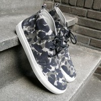 High Top Grey Camo