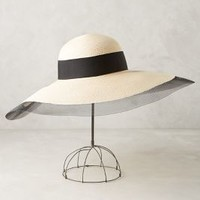 Sunny Wide-Brim Hat by Eugenia Kim Black & White All Scarves