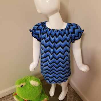 Black & Blue Chevron Dress
