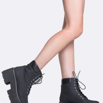 Grunge Style Chunky Bottom Boot