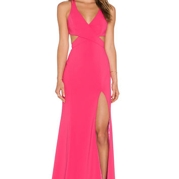 Jay Godfrey Hallendale Maxi Dress in Bright Pink