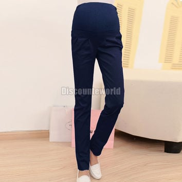 2014 Fashion New Women Pregnancy Maternity Over Bump Pencil Pants Trousers 4 Colors Size S-XL for Xmas