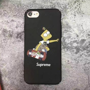 The Simpsons x Supreme Cell Phone Cases For iPhone6 6s 6Plus 6sPlus For iPhone7 7Plus Hard Case High Quality Protection