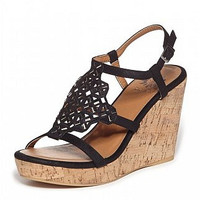 Yellow Box : Uptown Wedge In Black