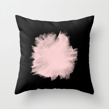 Pale Pink & Black Throw Pillow by cafelab