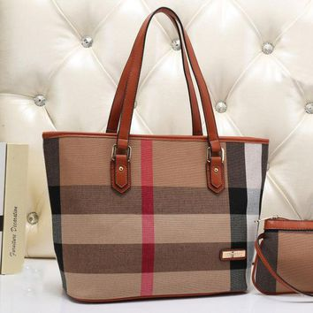 CREY9N Burberry Women Leather Tote Shoulder Bag Satchel Handbag