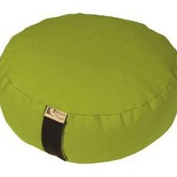 Bean Products Zafu Round Yoga Meditation Cotton Cushions Made In USA Olive