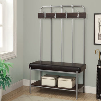 """Silver Metal 60""""H Hall Entry Bench"""
